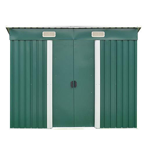 dirty pro tools METAL GARDEN SHED Width 216 x Depth 110 cms with base