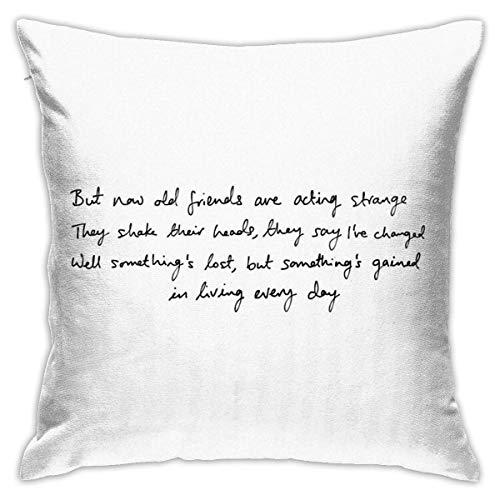 Joni Mitchell Now - Funda de cojín decorativa para sofá de dormitorio, 45,7 x 45,7 cm
