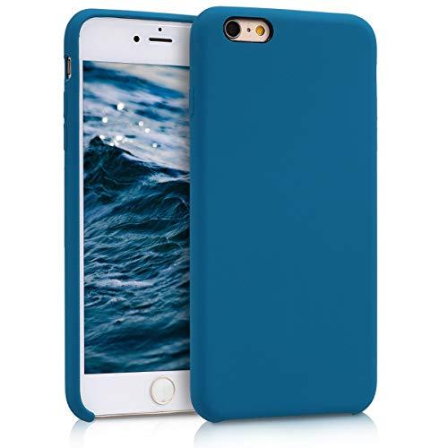 kwmobile Carcasa Compatible con Apple iPhone 6 Plus / 6S Plus - Funda de Silicona para móvil - Cover Trasero en petróleo
