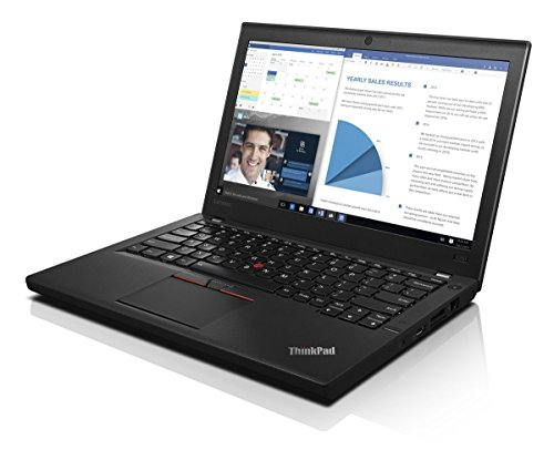 Lenovo ThinkPad X260 - 31.75 cm (12.5 ') LED HD 1366 x 768 , Intel Core i5-6200U (2.3 GHz), 8GB DDR4, 180GB SSD, Intel HD Graphics 520, WLAN, Gigabit Ethernet, Windows 10 Pro 64 (Renewed)
