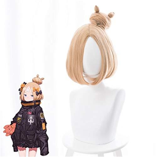 Fate Grand Order Abigail Williams Cosplay peluca corta resistente al calor pelo sinttico Perucas Anime disfraz pelucas + gorro de peluca Ks235Y