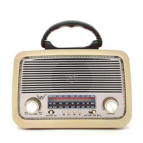 Rádio Retro A3199T Lanterna Bluetooth Fm Pendrive (Marrom)