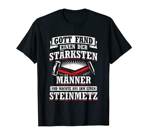 Herren Stärkste Männer Steinmetz Bildhauer Arbeit T-Shirt