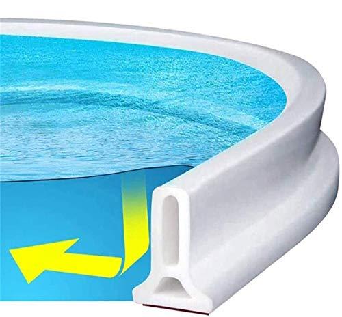 ZHXQ Barrera de Agua Tira Impermeable de Silicona Flexible Umbral de Ducha Plegable Presa de Agua umbral de Ducha tapón de Agua de Presa de Agua Parada de Flujo de Agua para separación húmeda y Seca