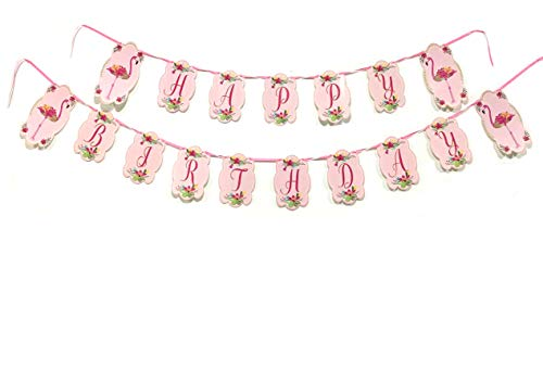 Lilly and the Bee Novelties Flamingo Happy Birthday Banner