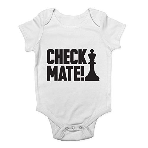Mono de bebé Promini con diseño de cuadros, de ajedrez, para bebé, de una pieza, el mejor regalo para bebé