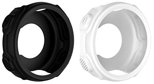 BlueBeach® 2 Pieza Funda Protectora de Silicona para Garmin Forerunner 235 / 735XT (Blanco y Negro)
