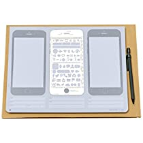 loghotクリエイティブドラフト図面Iphone 6スケッチパッドfor Appデザインステンシルuiデザインテンプレート Sketch Pad+Stencil Kit+Pencil SKETPAD160808