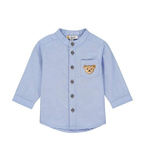 Steiff Jungen Langarm Hemd, Blau (Kentucky Blue 6020), 80 (Herstellergröße: 080)
