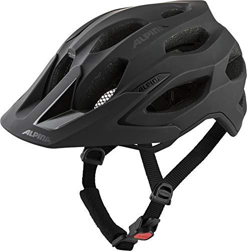 ALPINA Unisex - Erwachsene, CARAPAX 2.0 Fahrradhelm, black matt, 57-62 cm