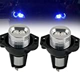 Bevinsee LED Headlight Bulbs Replacement for Angel Eyes Light Halo Ring BMW E90 E91 328i 325i,Blue,2pcs