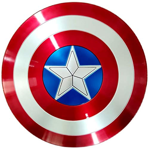 Escudo Capitan America 1: 1 Adulto Apoyos de PelíCula NiñOs CapitáN AméRica Shield CapitáN Disfraz Shield, DecoracióN de Pared de Bar 58CM