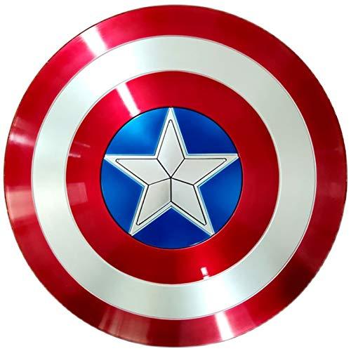 Captain America Shield Captain America Custome Halloween Puntelli Cosplay per Adulti Bambino Bar Shield Decorazioni da Parete 58Cm