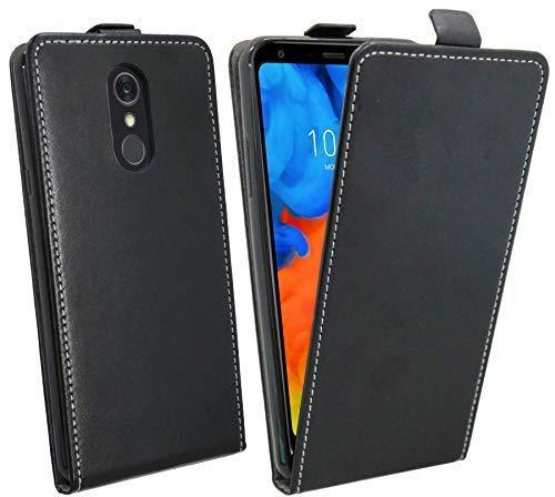 cofi1453 Klapptasche Schutztasche kompatibel mit LG Q Stylus Schutzhülle Flip Tasche Hülle Zubehör Etui in Schwarz Tasche Hülle