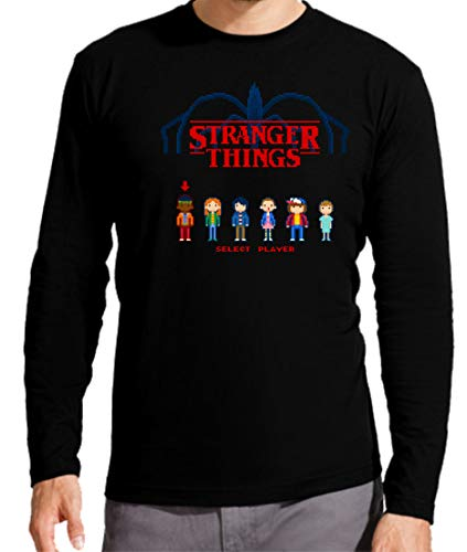 Camiseta Manga Larga de Hombre Stranger Things Once Series R