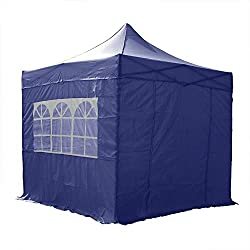 Airwave Gazebo Four Seasons Essential Pop Up with Sides Waterproof 2.5 x 2.5m (Blue)