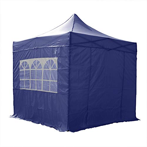 AIRWAVE 3x3m Waterproof Blue Pop Up Gazebo - Stunning Outdoor Marquee Tent with 4 Leg Weight Bags & Carry Bag