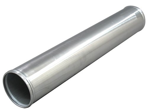 4' OD Aluminum Straight Pipe, Polished, 3.0mm Thick, 24' Length