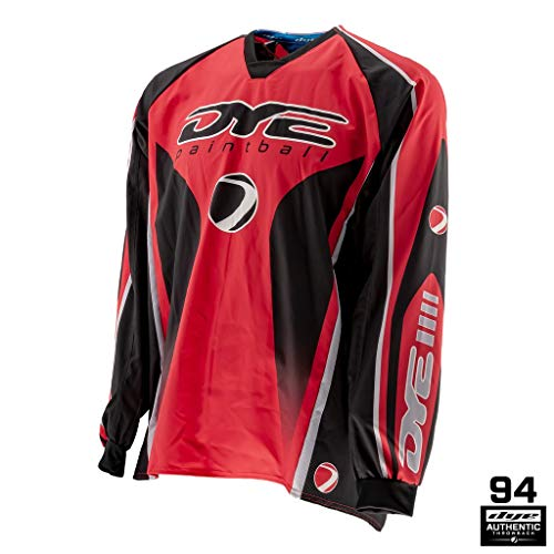 Dye Paintball Throwback Jersey Core (XXX-Large, Red)