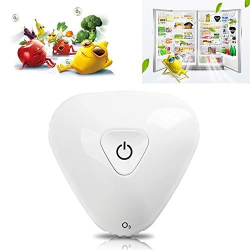 OPNIGHDYMD Mini refrigerador de ozono purificador de Aire, ozono Generador Portátil, conservación de Alimentos ambientador Nevera, Nevera USB Recargable Eliminador de olores (Color : White)