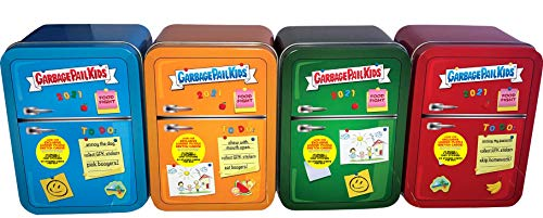 2021 Topps Garbage Pail Kids Food Fight Blue, Green, Red & Orange Set of 4 Trading Card Collector Tins