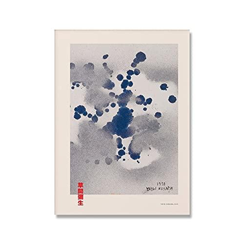 Carteles e impresiones de exposiciones de arte, cuadros de decoración de arte de pared de galería azul claro, pinturas de lienzo sin marco A1 20x30cm