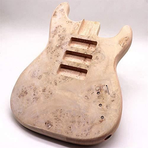 CHENTAOMAYAN Accesorios profesionales, 6 cuerdas de la guitarra eléctrica de cuerpo árbol Burl Top 2 pedazos de madera Okume Combinar la guitarra for cañones de 24 trastes cuello de la guitarra Profes