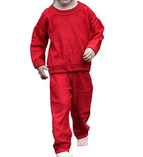 Cosilana Pijama infantil de 2 piezas, de lana de rizo 100% lana (cultivo ecológico)