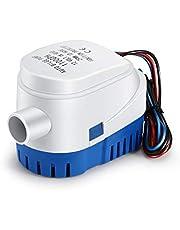 OurLeeme 1100GPH - Bomba de agua sumergible automática para barco (12 V)