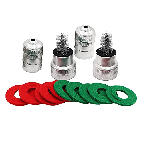 IPOTCH 6 Pares de Arandelas anticorrosión con Terminal de batería y 2 Paquetes de Cepillo de Limpieza para Coche, Barco Marino