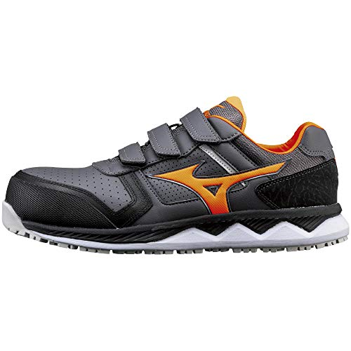 [ミズノ] 安全靴 オールマイティ HW22L 軽量 ベルト JSAA・普通作業用(A種) ダークグレー×オレンジ×ブラック 27 cm 3E