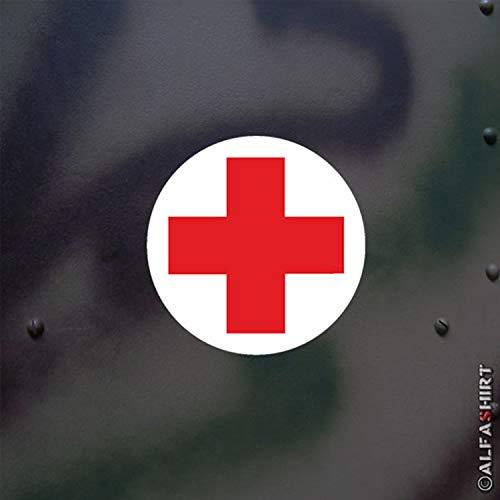 Aufkleber/Sticker Erste Hilfe Sanitäter Verbandskasten Bundeswehr 5x5cm #A518