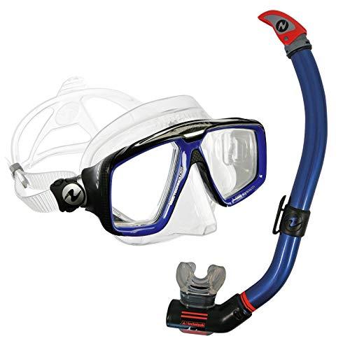 Abenteuertauchen Aqualung Schnorchelset Comfort - Maske Look HD mit Schnorchel Air Ventil, Farbe:blau