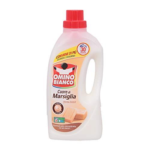 Omino Bianco Detergente Corazón de Marsella, 30 lavados – 1,5 l
