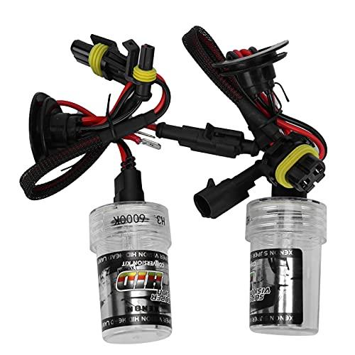 Bombilla LED H3 para faros delanteros 2 uds H3 bombilla de repuesto para faros delanteros 35W 6000K 3250LM Luz blanca de alta luminancia para coche, lámpara delantera
