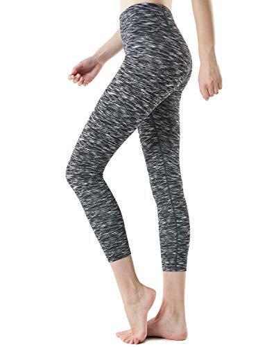 TSLA High Waist Yoga Pants with Pockets, Tummy Control Yoga Leggings, Non See-Through 4 Way Stretch Workout Running Tights, Pocket(fgp54) - Black, Medium