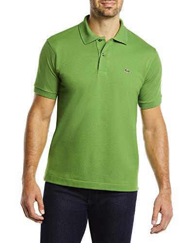 Lacoste Men's Short Sleeve L.12.12 Pique Polo Shirt, Lemon Balm, Large