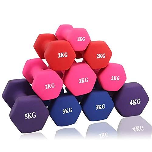 ダンベル 「2個セット1kg 2kg 3kg 4kg 5kg 10kg」「ソフトコーティングで握りやすい」[筋力トレーニング 筋トレ シェイプアップ 鉄アレイ]