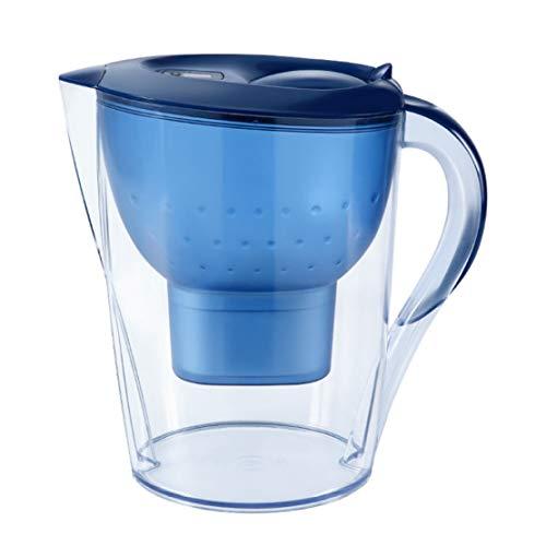 MFASD Jarra de Filtrado de Agua, Jarra de Agua Filtrada 10-Cup con Filtro Water Filter para Reducir el Plomo y Otros Metales Pesados Libre de Bisphenol A,Blue