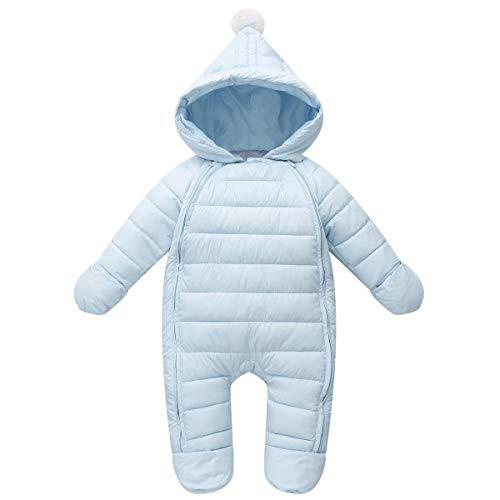 Vine Bambino Tute da neve Inverno Pagliaccetti con cappuccio Un pezzo Outfits, Azzurro 3-6 Mesi