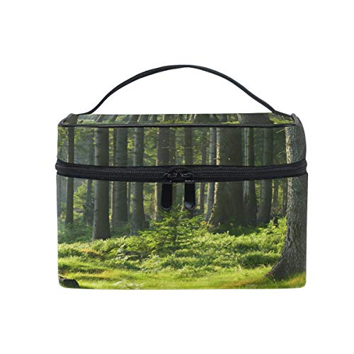 iRoad Kosmetiktasche mit tropischem Wald-Motiv, für Damen und Herren