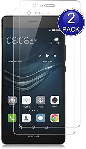 Bodyguard Schutzfolie für Huawei P9 Lite Panzerglas, [2 Stück] 9H Festigkeit Kratzfest, HD Bläschenfrei, [Hüllenfre&lich] Bildschirmschutz Einfacher Montage Panzerglasfolie für Huawei P9 Lite