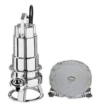 Schmutzwasserpumpe Tauchpumpe Profi Hochleistungspumpe 42000L/h fördert Feststoffgröße bis zu 50 mm