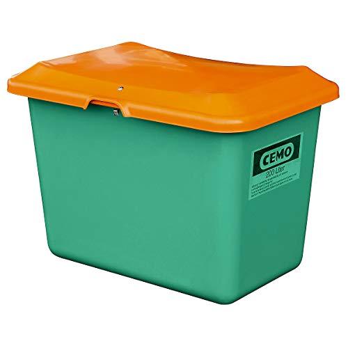 CEMO Streugutbehälter aus GfK - Volumen 200 l, ohne Entnahmeöffnung, Behälter grün - Kunststoff-Behälter Mehrzweckbehälter Schüttgutbehälter Streugutbehälter GfK-Behälter Behälter für Streugut Großbehälter Kunststoff-Behälter Mehrzweckbehälter