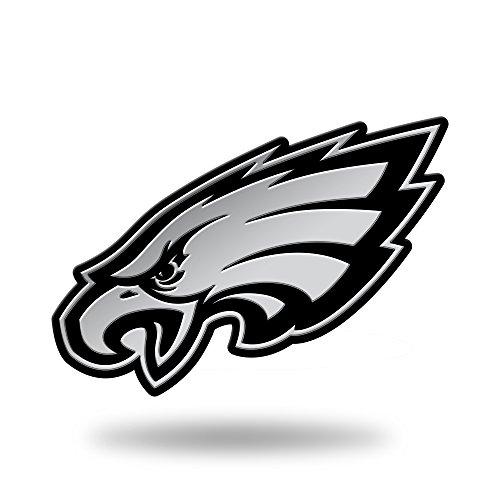 NFL Rico Industries Chrome Finished Auto Emblem 3D Sticker, Philadelphia Eagles