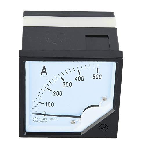 Medidor de panel de amperios, medidor de amperímetro analógico cuadrado de 500 A