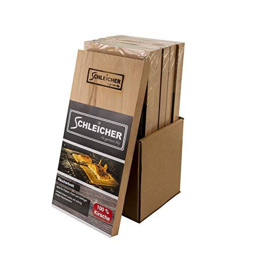 ACTIVA Schleicher Premium - Tablas para ahumar de cerezo, 30 x 14 x 2 cm, 6 unidades, XXXL 2 cm, extragruesas, reutilizables...