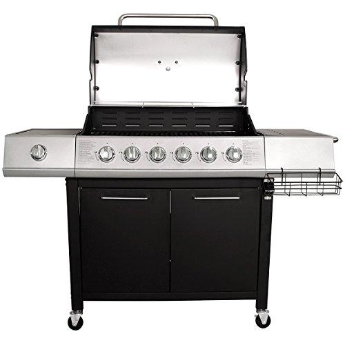 Charles Bentley 7 Burner Premium Gas Steel Barbecue With Wheels