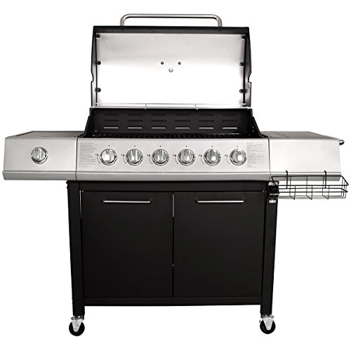 Charles Bentley 7 Burner Premium Gas Steel Barbecue With Wheels