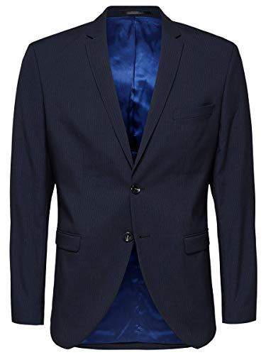 SELECTED HOMME Herren SLHSLIM-MYLOLOGAN Stripe BLZ B NOOS, Blau (Navy Blazer Navy Blazer), 106